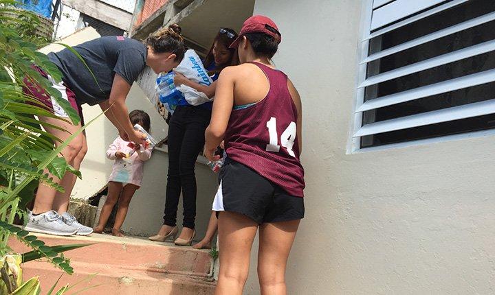 Delivering water in Puerto Rico
