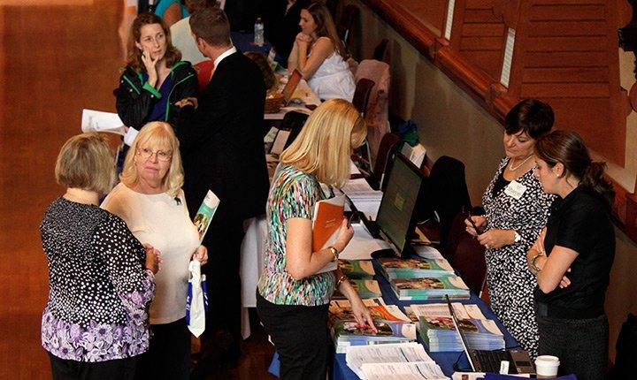 Employees attend the annual wellness fair