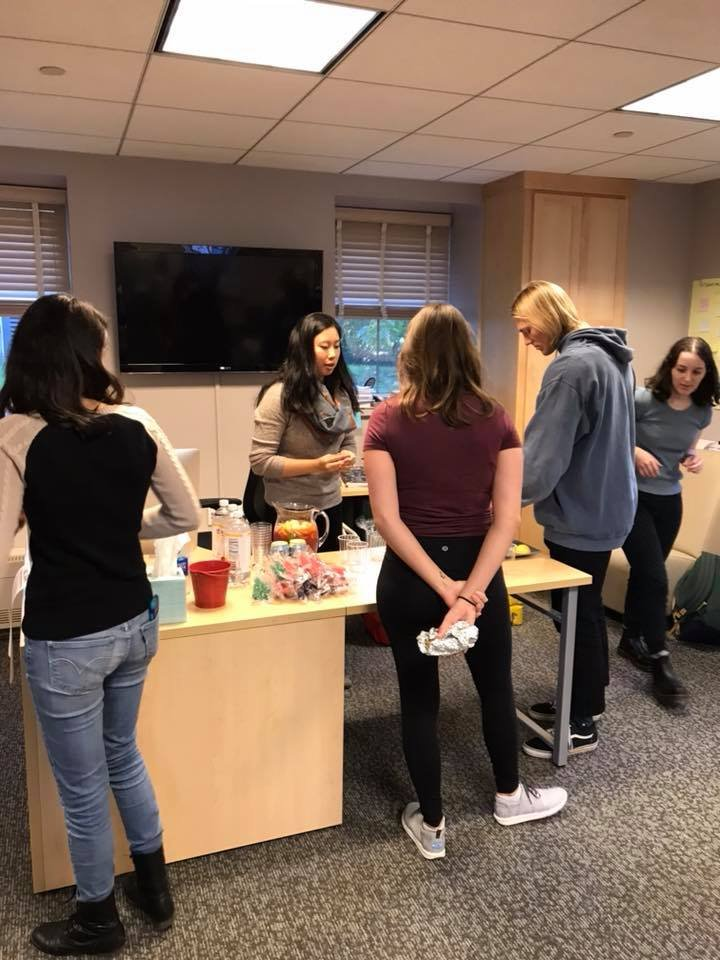 Swatties enjoyed delicious mocktails in the Writing Center as part of the building-wide event, the Trotter Hall Crawl.