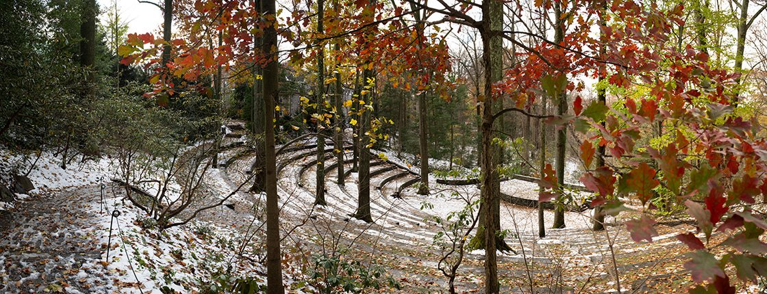 Amphitheater in winter