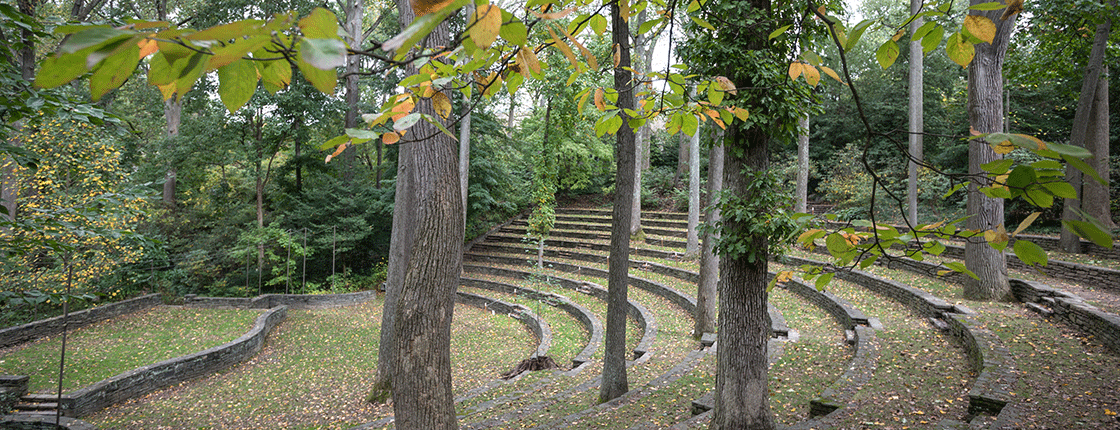 The outdoor amphitheater on Swarthmore's campus