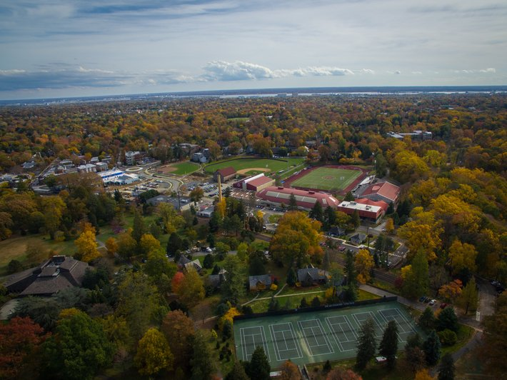 Drone image of south campus