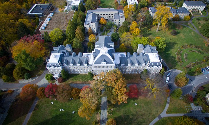 Parrish Hall overhead view
