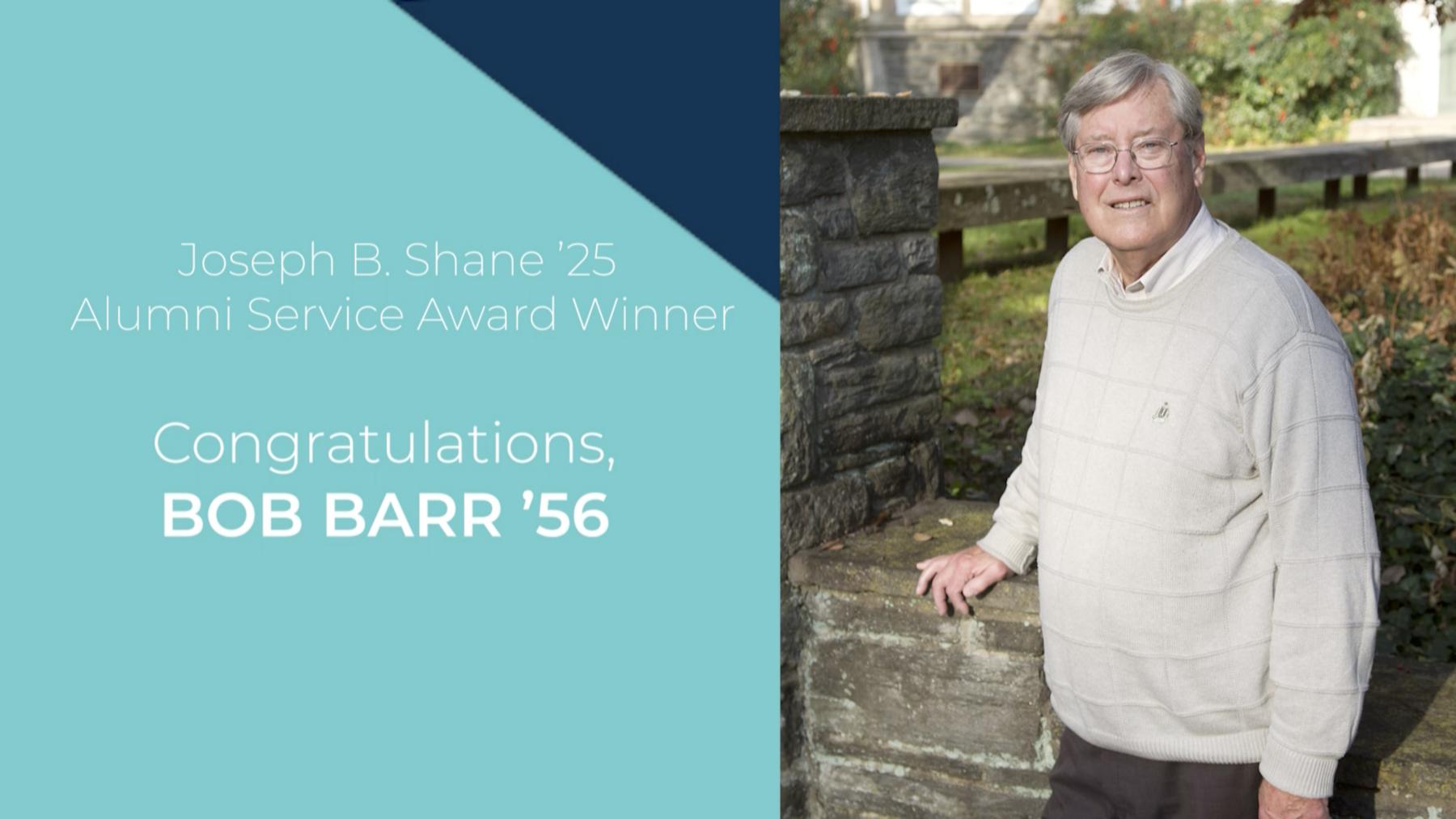 Congratulations, Bob Barr '56