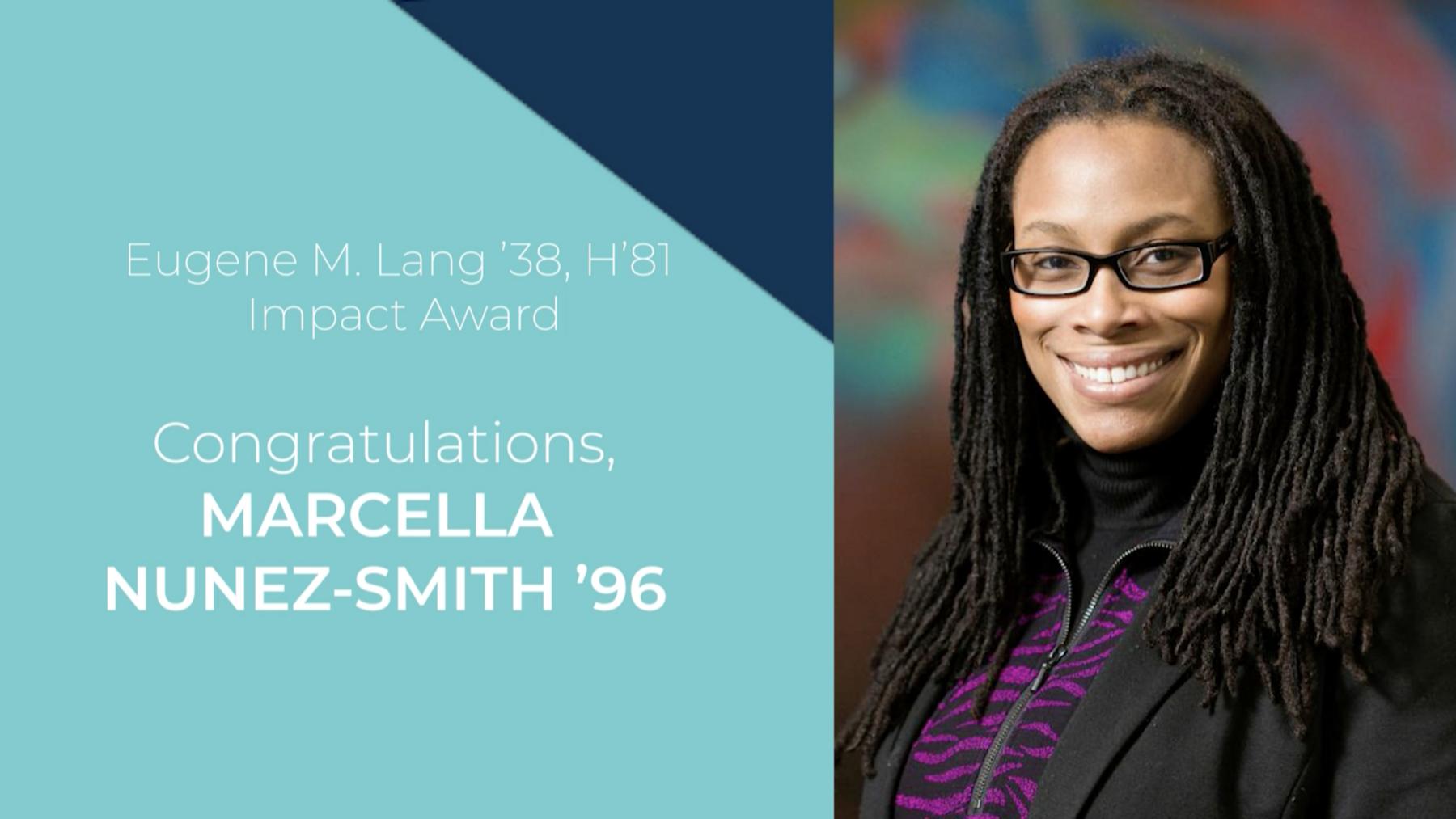 Congratulations, Marcella Nunez-Smith '96