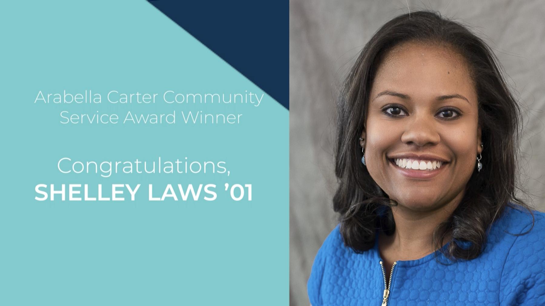 Congratulations, Shelley Laws '01