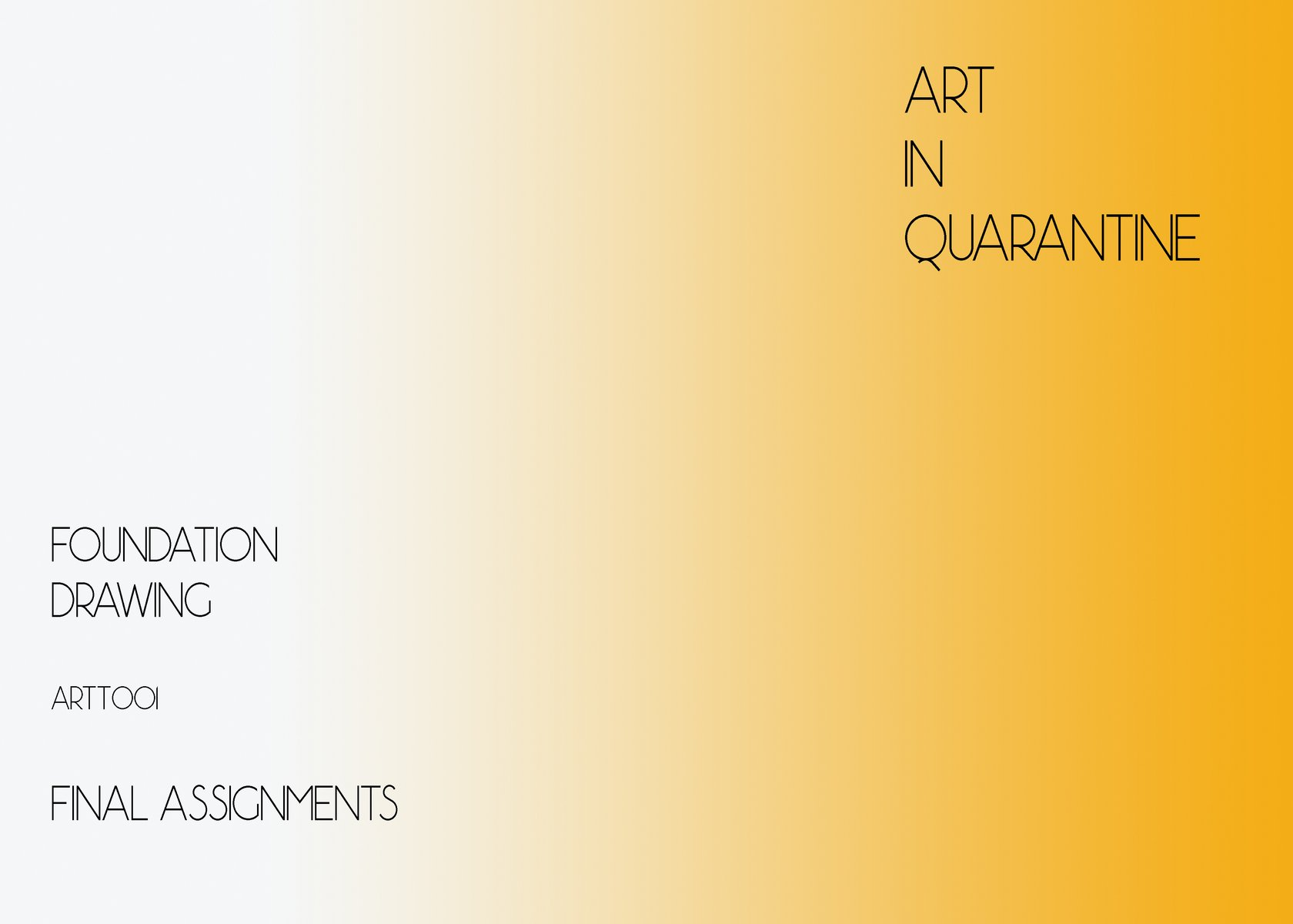 Foundation Drawing, Spring 2020, Art in Quarantine catalog