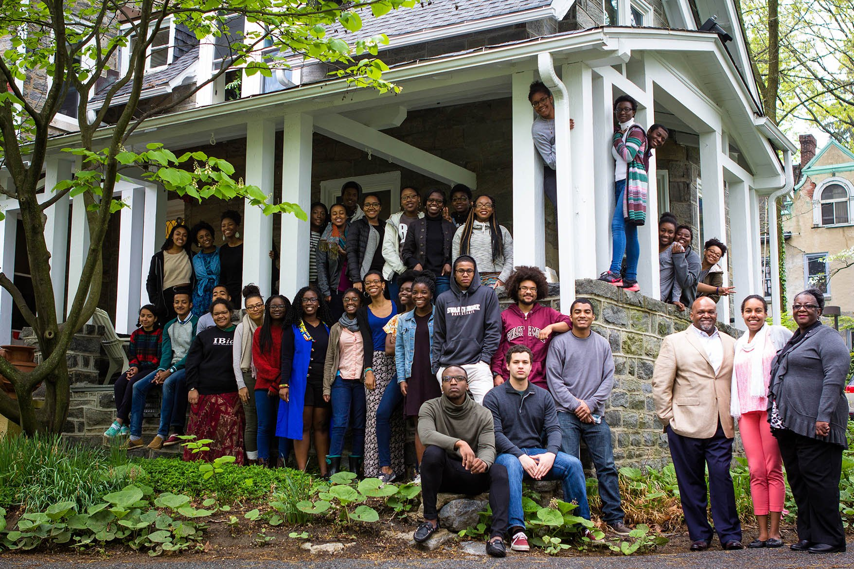Students and Administrators at the BCC Robinson House