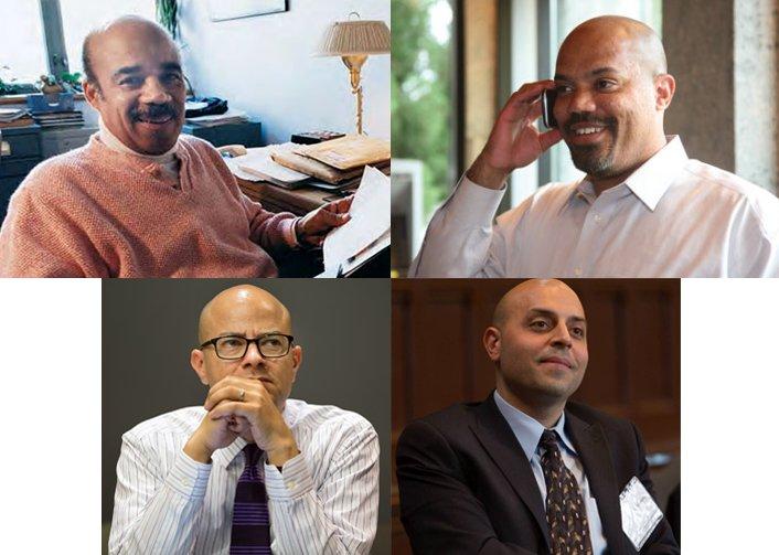 Clockwise from left: Chuck James,Garikai Campbell '90, Anthony Foy, Sa'ed Atshan '06