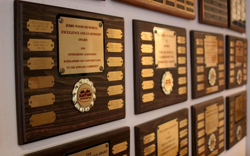 Awards on the BCC wall