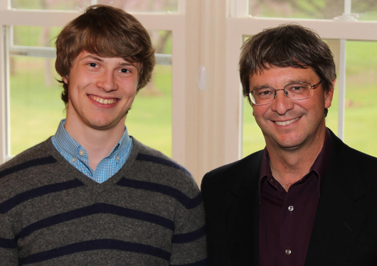 Barrett Powell and Professor Paul Rablen at the ACS Awards Dinner