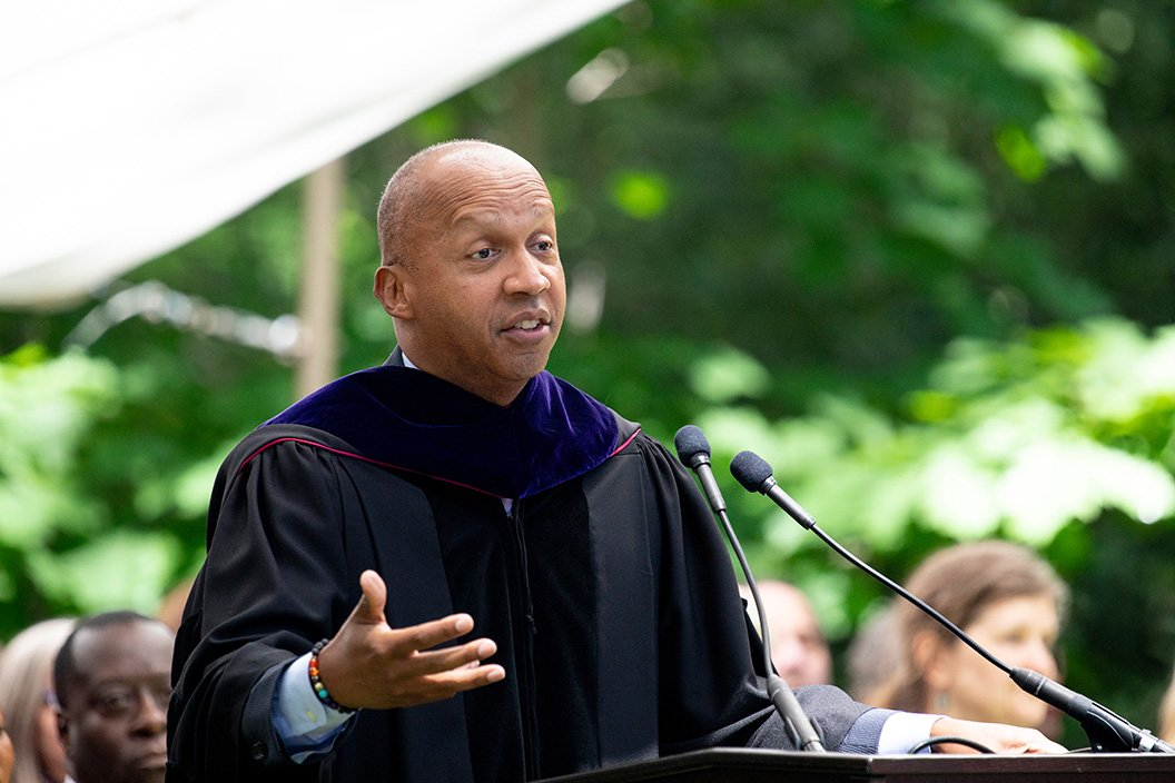 Bryan Stevenson speaks at commencement 2019
