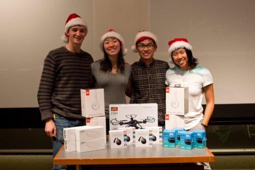 Swarthmore students David Ranshous '17, Tiffany Yu '18, Eric Wang '18, Emily Cai '18