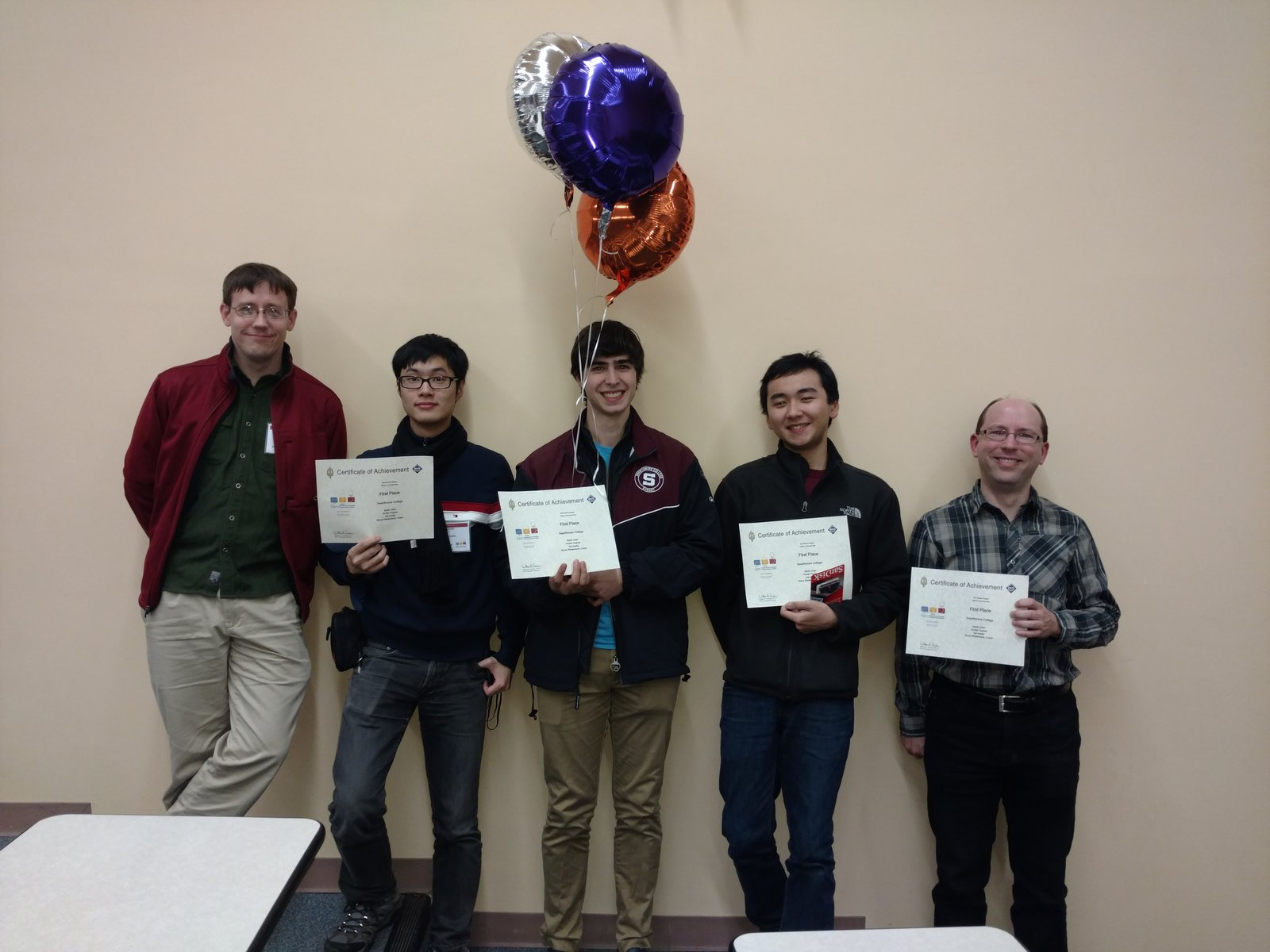Swarthmore CS students at ICPC