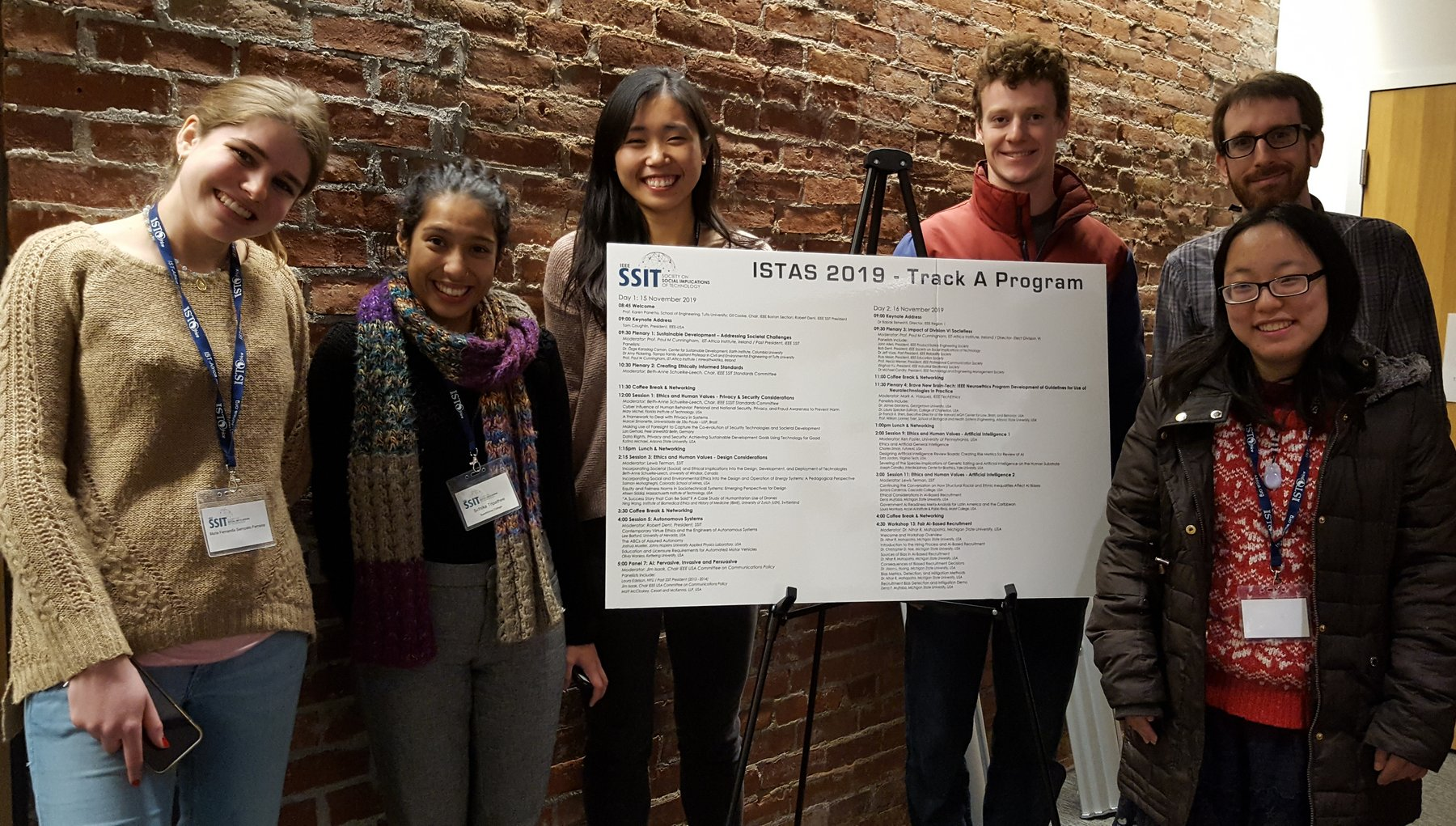 swatcs students at ISTAS conference