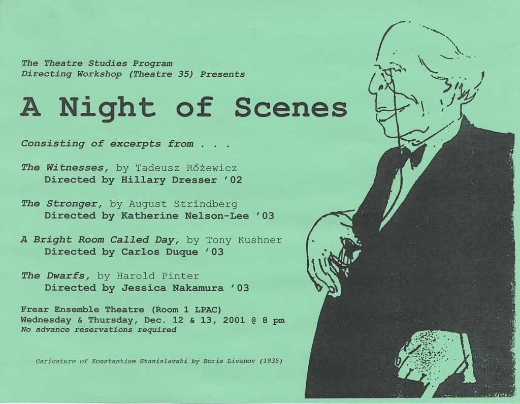 Directing I: Night of Scenes '01