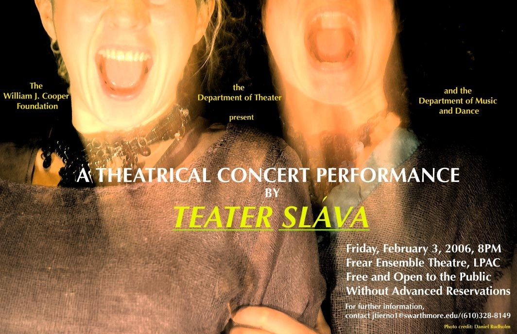 Teater Slava concert :: Department of Theater :: Swarthmore