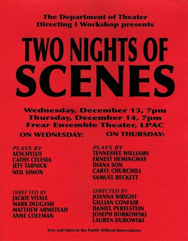Two Nights of Scenes