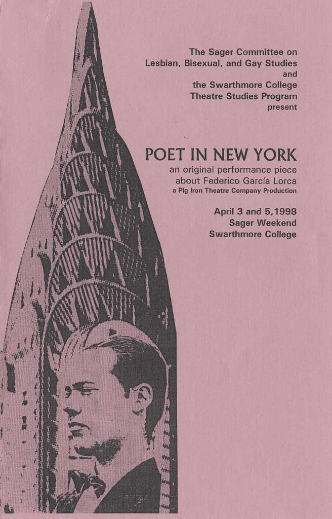 Poet in New York: an original performance piece about Federico Garcia Lorca