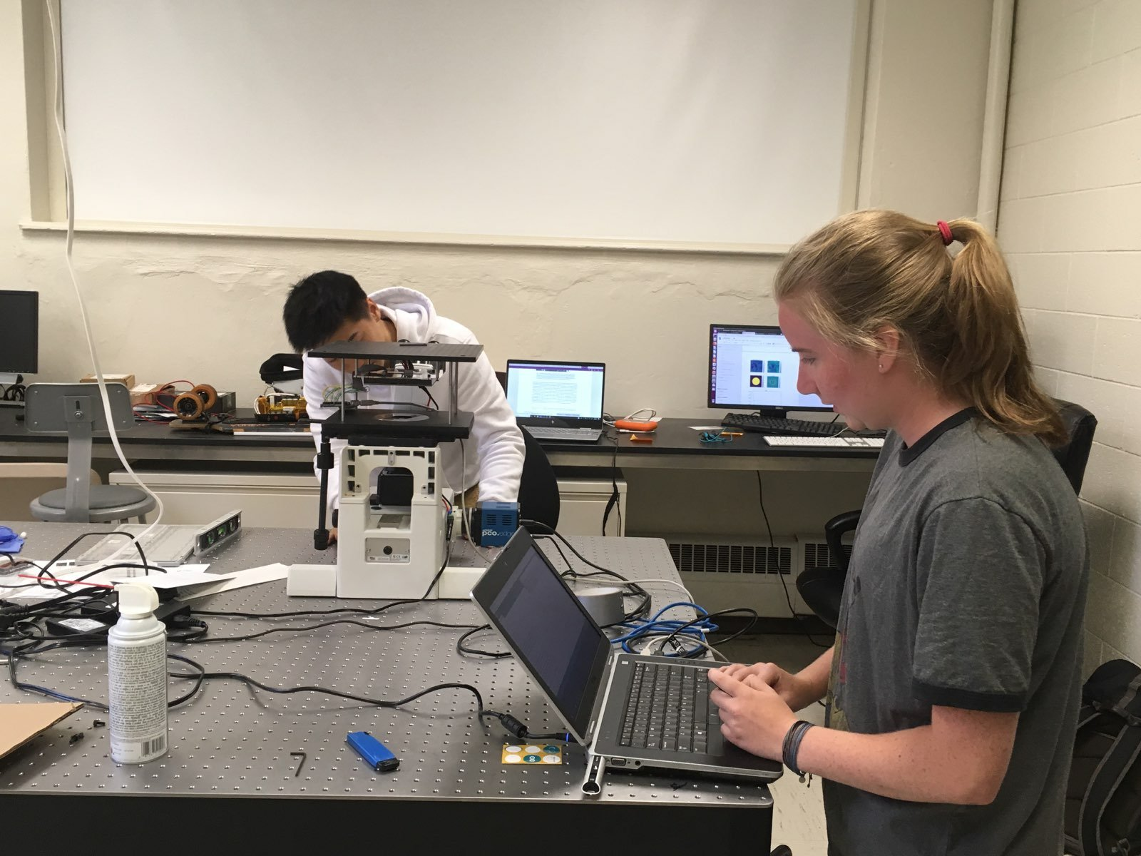 Students in Vidya Ganapati's Computational Optics Lab