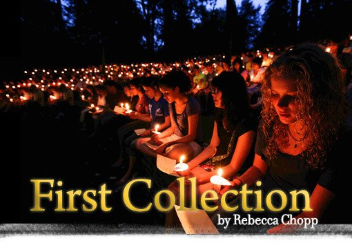 First Collection image - people with lit candle