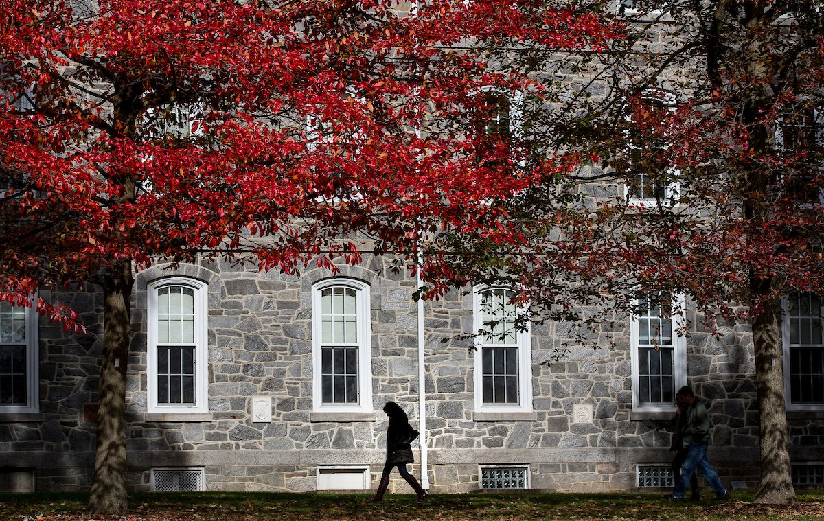 Parrish Hall on the campus of Swarthmore College