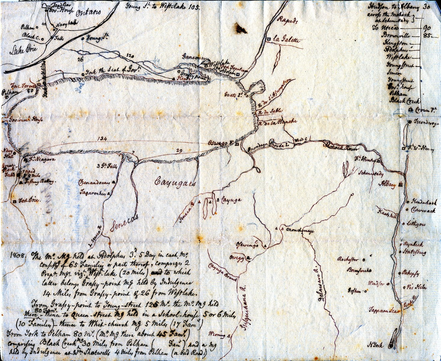 Map of Upper Canada, probably late 18th century