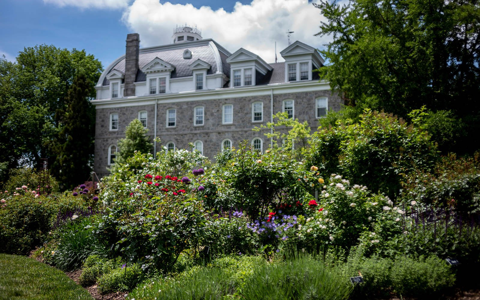 parrish hall and the rose garden