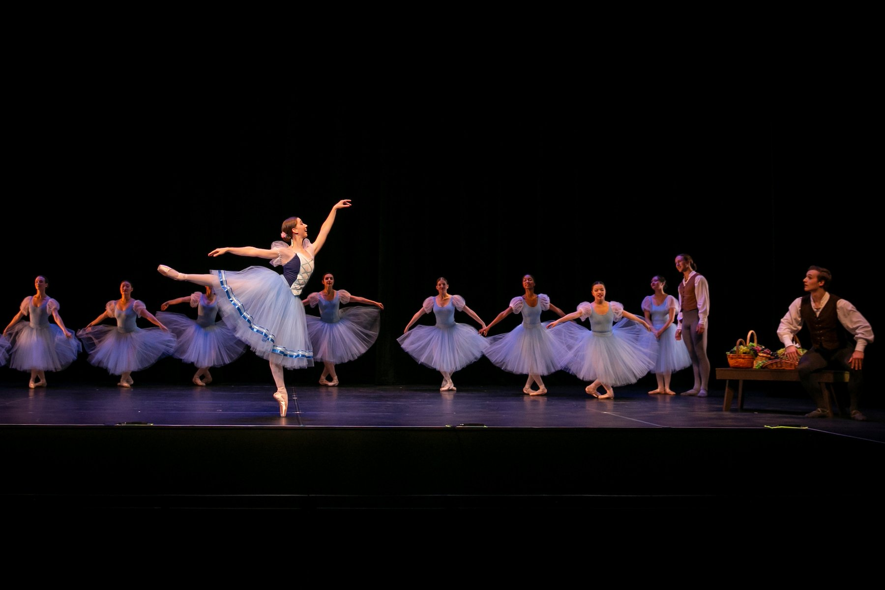 Students in Giselle (1841) by Jean Coralli and Jules Perrot, staged by Olivia Sabee, Fall Dance Concert 2018 (Sasha Fornari)