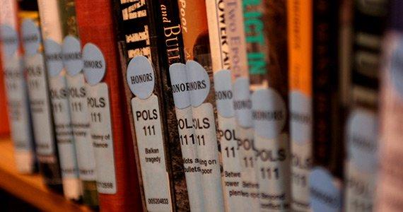 Honors reserves bookshelf