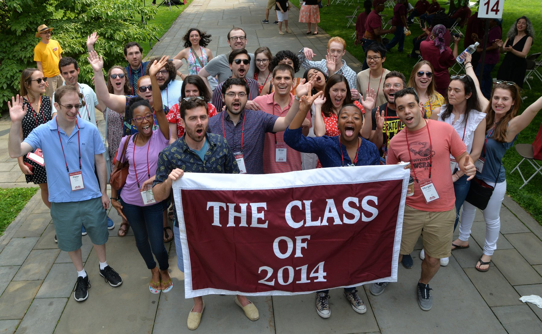 alumni weekend class of 2014 photo