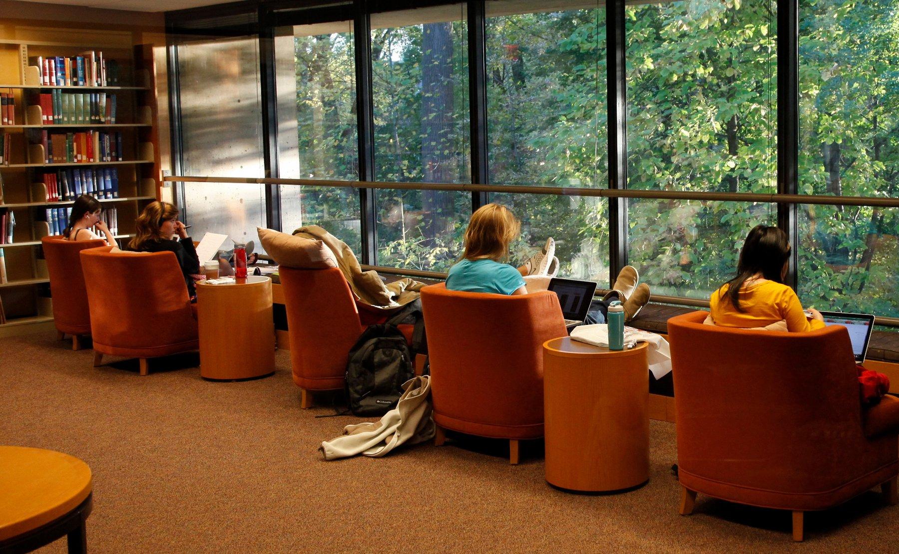 Student study in Underhill