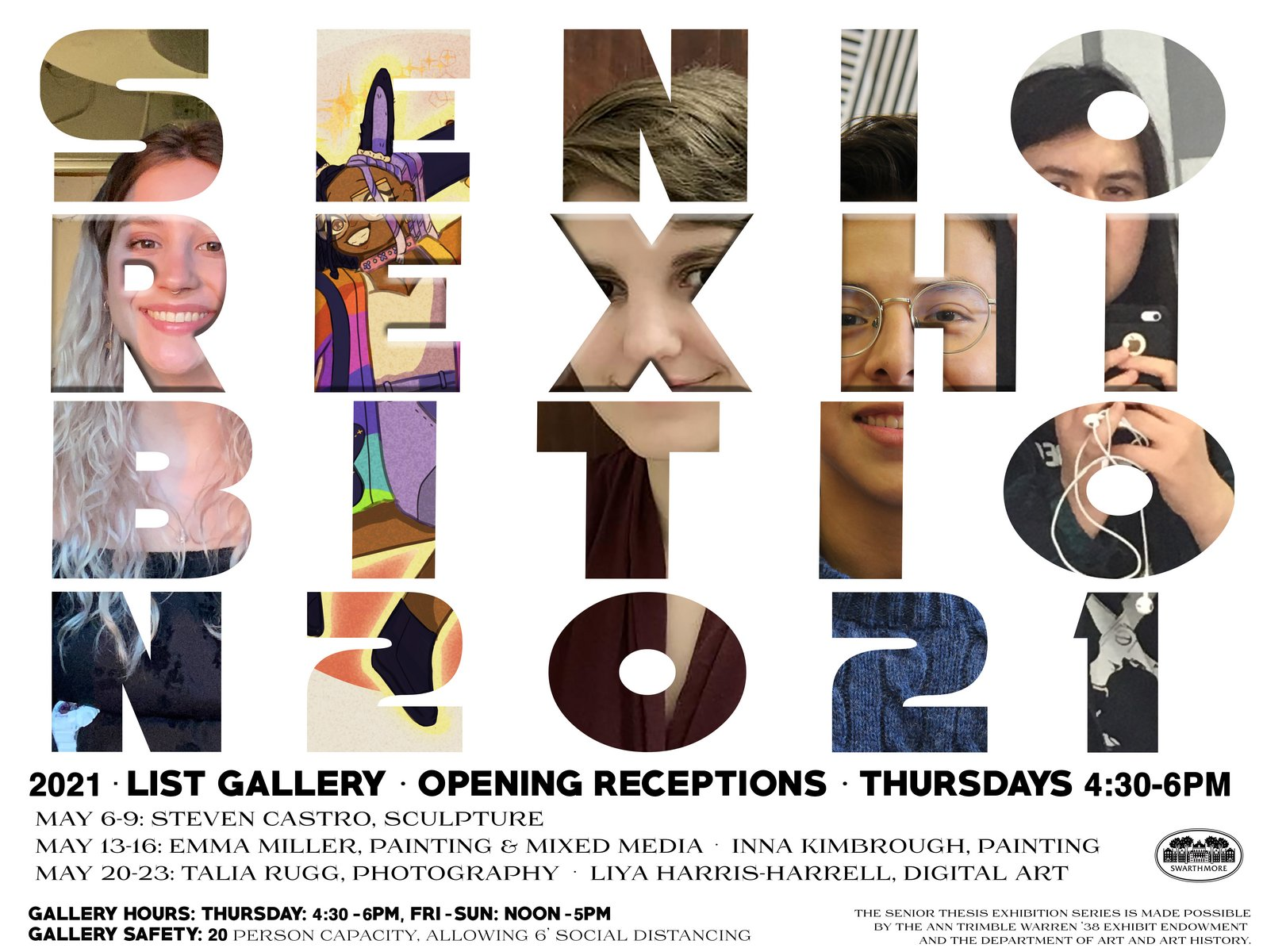 2021 Senior Thesis art exhibitions