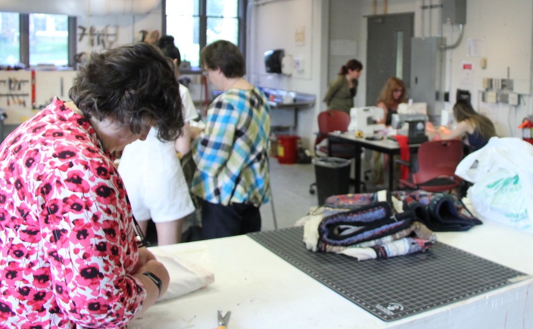 sewing workshop with people