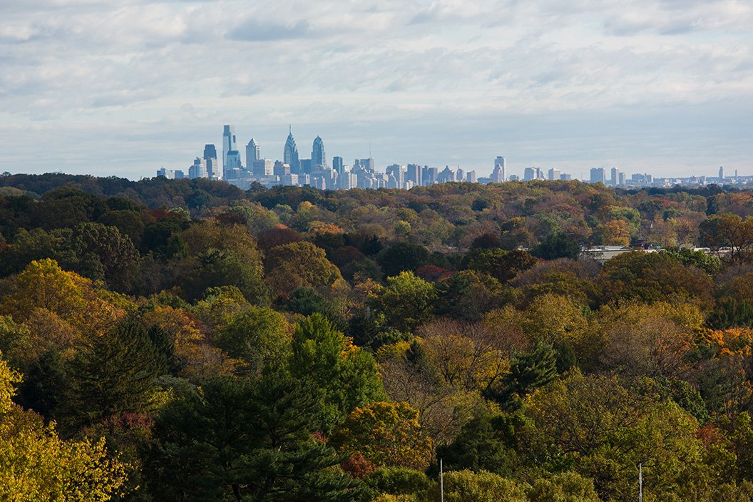 Skyline of Philadelphia as seen from Swarthmore