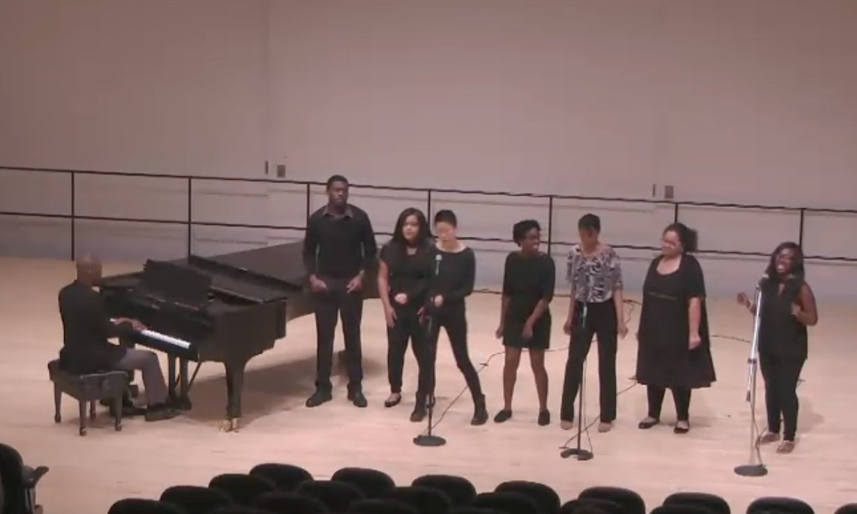 Swarthmore College's Gospel Choir performs in Lang Concert Hall.