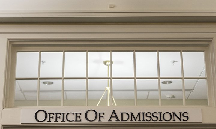 iBeacon above Office of Admissions