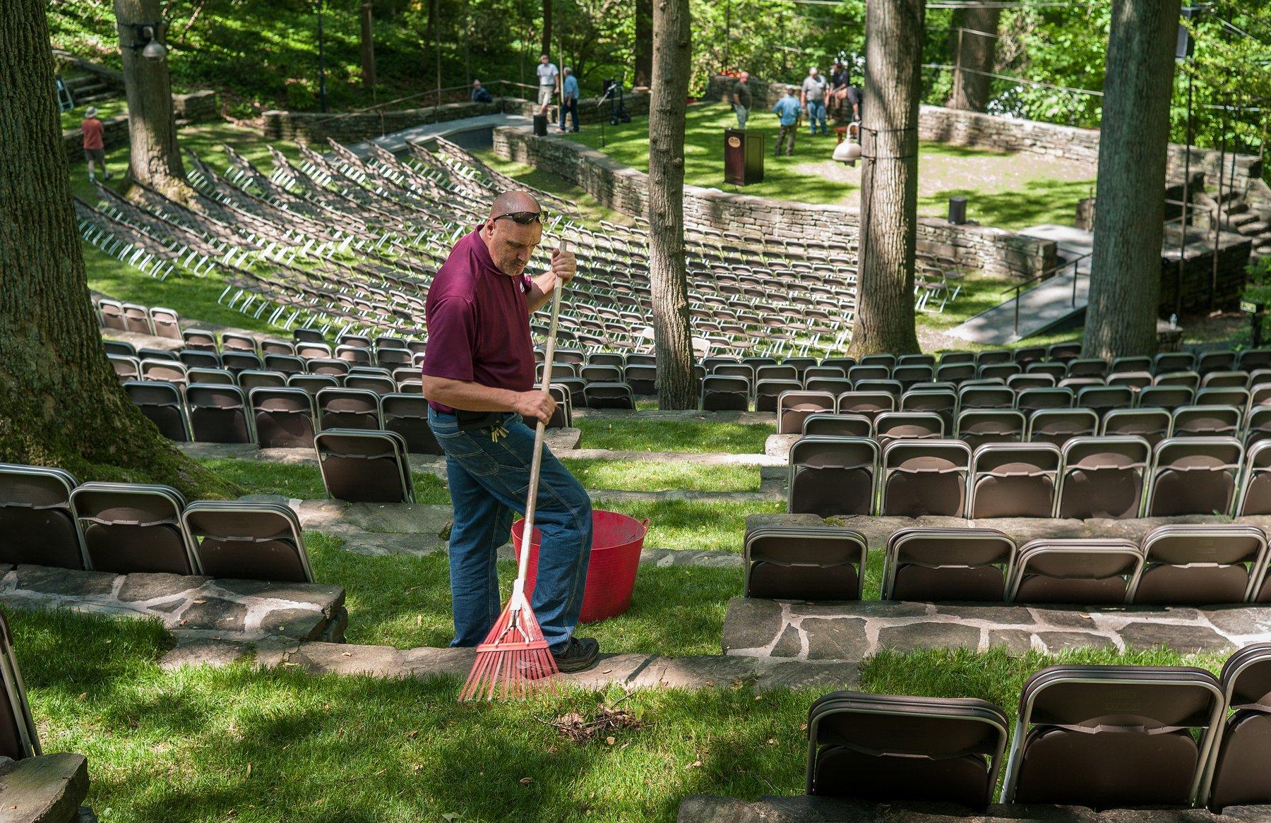 Will Evans Jr in amphitheater