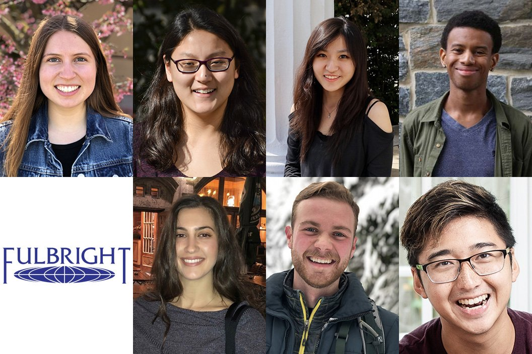 2019 fulbright scholars with Fulbright logo in bottom left of collage