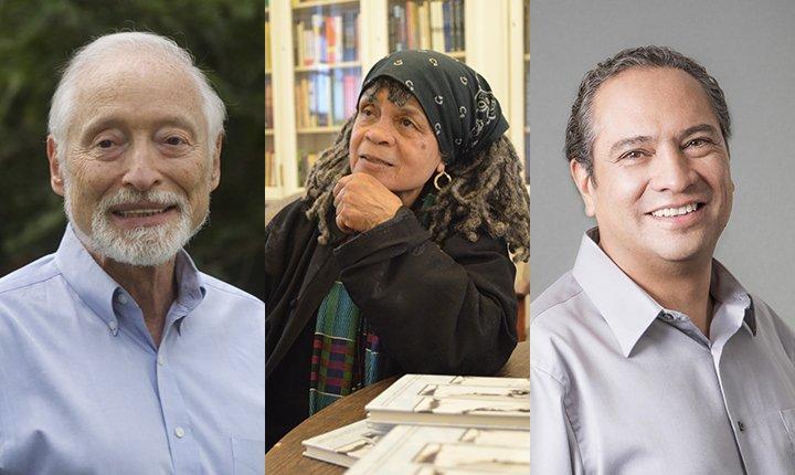 Edgar Cahn '56, Sonia Sanchez, Francisco Valero-Cuevas '88