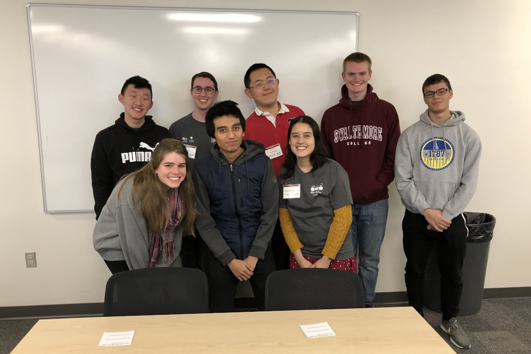 Members of Swarthmore'sprogramming competition team