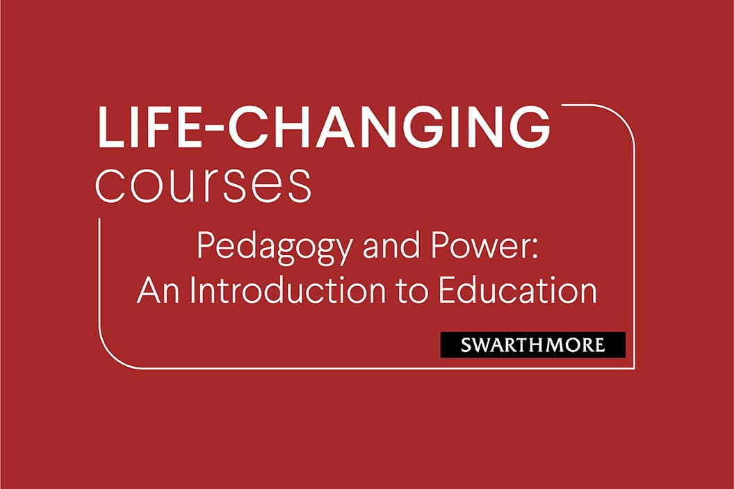 """Red graphic with white text reading """"Life Changing Courses"""""""