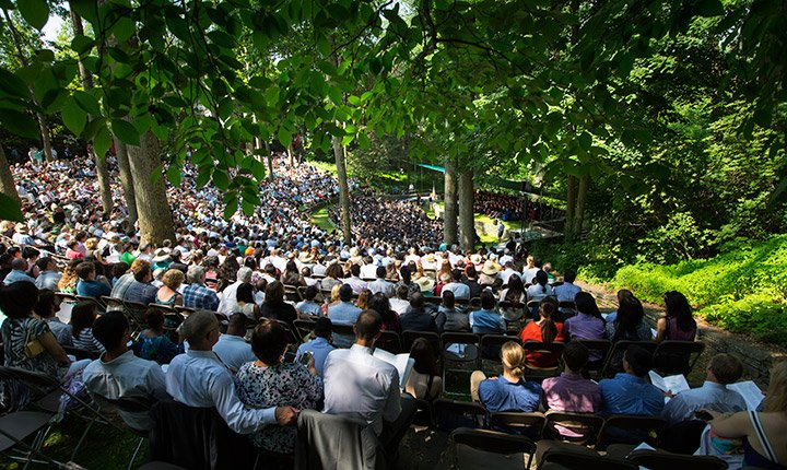 2015 Commencement in Scott Outdoor Amphitheater