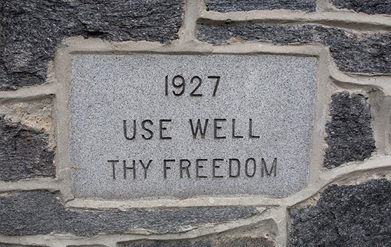 use well thy freedom