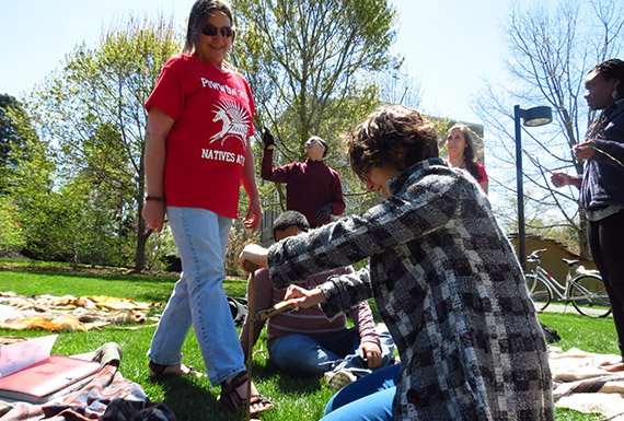 DePaul introduces Lenape cultural elements to the class in a hands-on, holistic style.