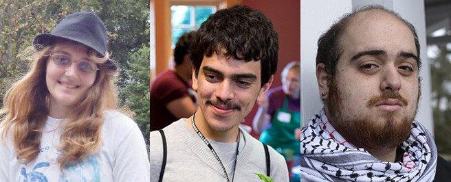 Samantha Gray '17, Mario Sanchez '16, and George Abraham '17