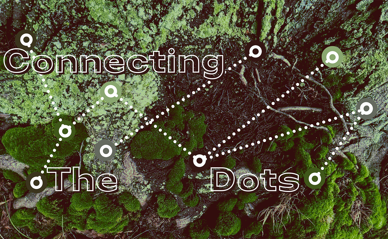 """abstract image with text """"connecting the dots"""""""