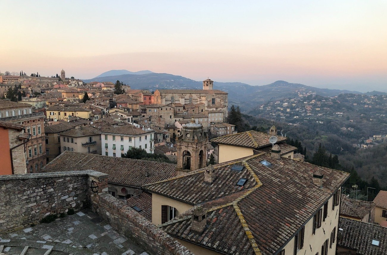 view of Perugia, Italy