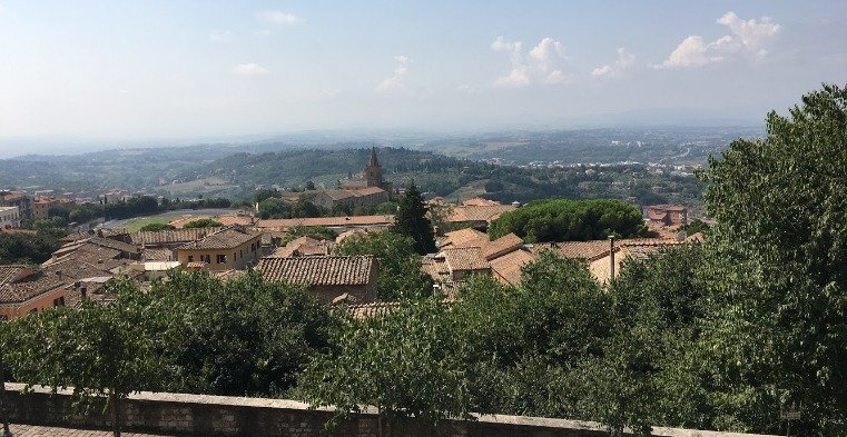 Landscape view of Umbria, Italy