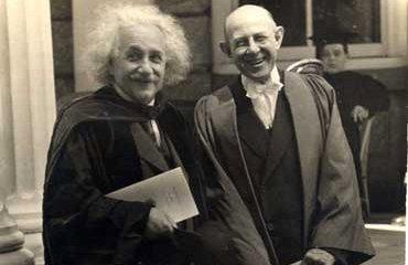 Albert Einstein and Swarthmore President Frank Aydelotte, 1938